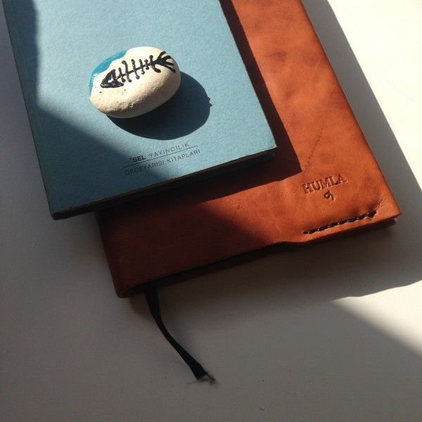 Humla moleskine defter kılıfı - Leather Moleskine notebook case -
