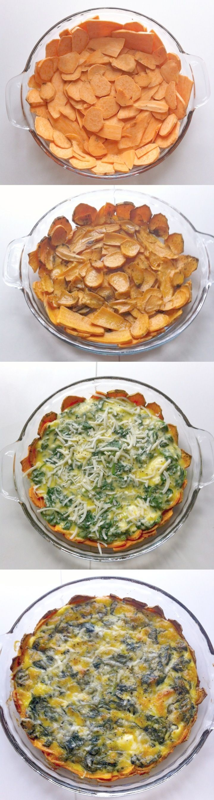 Sweet Potato Crusted Spinach Quiche! #HSPinParty