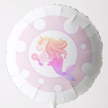 Mercorn With a Donut Balloon   Zazzle.com