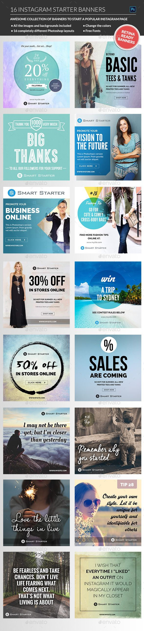 Instagram Banners Package Templates #design Download…