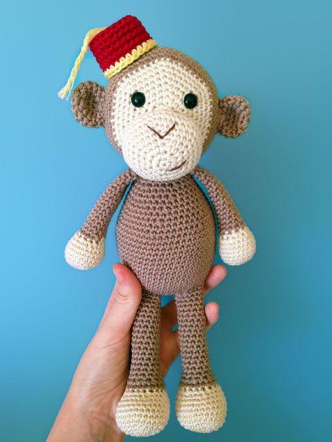 Amigurumi Jungle Animals : Cheeky Little Monkey Amigurumi Pattern - http://pinterest ...
