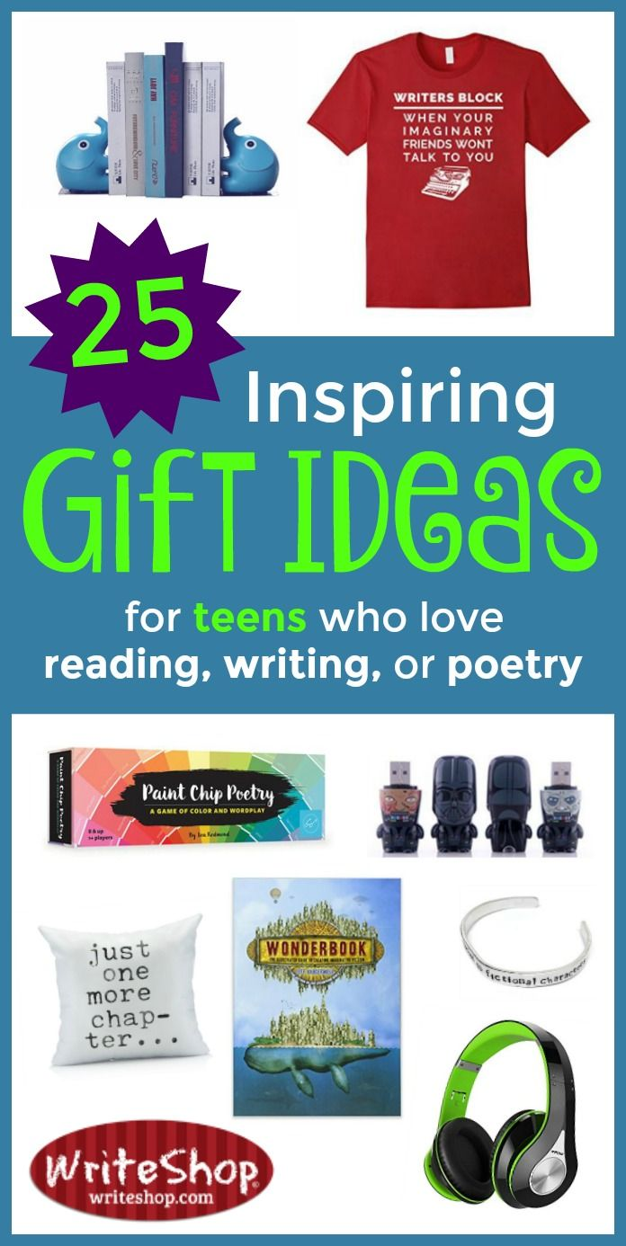 A new gift guide that's loaded with inspiring gift ideas for teens or adultswho love reading or writing!