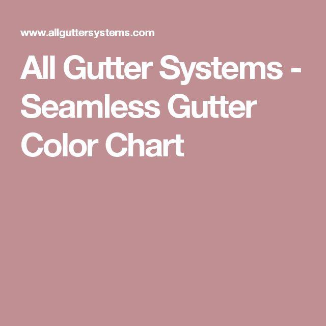 All Gutter Systems - Seamless Gutter Color Chart