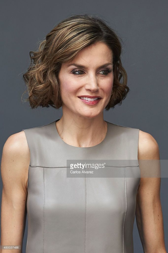 Queen Letizia of Spain visits Telecinco Tv Channel on July 9, 2015 in Madrid, Spain.