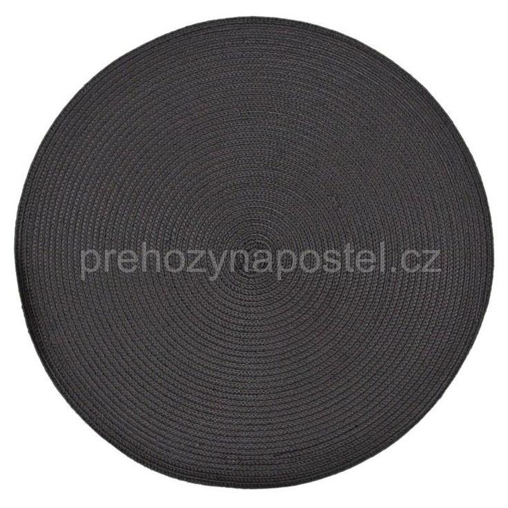 Kruhová podložka na stůl černé barvy