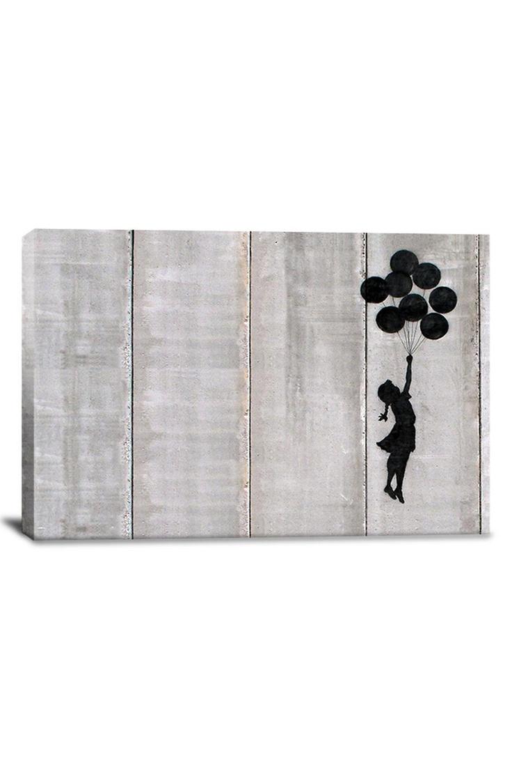 Banksy Flying Balloons Girl Canvas Print: Art Features, Banksy Flying, Art Inspiration, Flying Balloon, Balloon Girls, Girls Canvas, Art Culture, Features Banksy, Graffiti Art