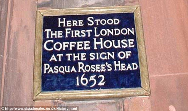The advert was used for Pasqua Rosee's Head, which is now the Jamaica Wine House. Rosee, originally from Sicily, had been a merchant's manservant who later started the business with his ex-master's coachman