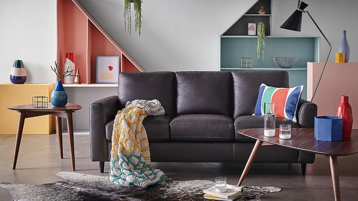 Saxon 3 Seat Sofa.   Saxon's straightforward design is visually striking yet versatile enough to fit beautifully into your existing dŽcor. Stretch out on its comfortable cushions and feel the luxurious leather under your fingertips. Saxon is a sofa that will last for years to come, becoming a firm family favourite.