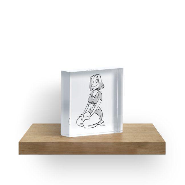 """The Pin-Up Block I"" Acrylic Blocks by J. van Santen | Redbubble"