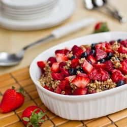 Raw Triple Berry Crisp. A healthy, no-bake dessert that is great for ...
