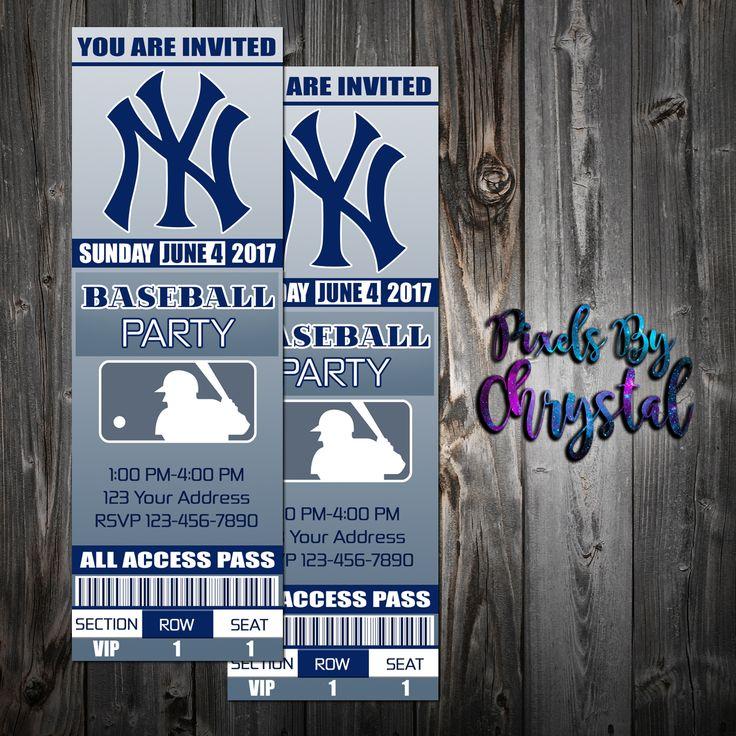 New York Yankees Ticket Party Invitation 2x6