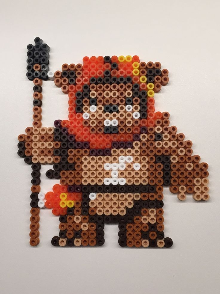 Perler beads. Ewok, Star Wars VI.