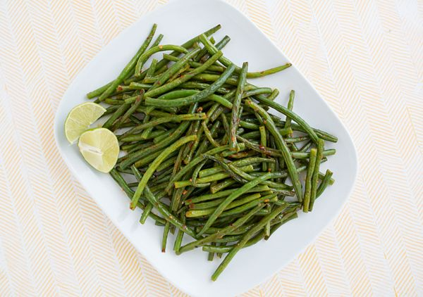 This roasted Chili Garlic Green Beans recipe takes 15 minutes to make from start to finish. It's one of my favorite ways to use green beans!