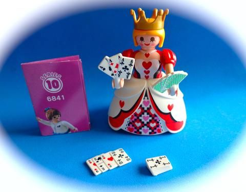 Playmobil Figures Serie  10 Reyna de cartas Queen of cards Königin mit Kartenspiel 6841