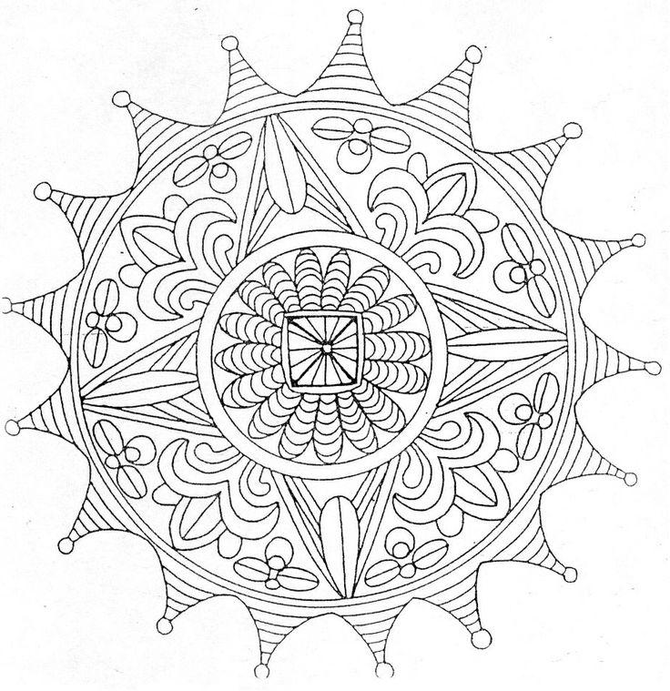 79 best mandala images on pinterest coloring books - Coloriage a imprimer mandala ...