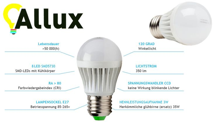 E27 3W Neue #LED #Lampe BULB 3W mit CCD #Spannungswandler