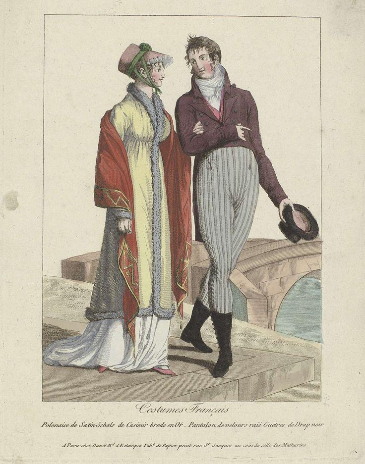 Costumes Français, 1799 : Polonaise de Satin..., Anonymous, Basset, c. 1799