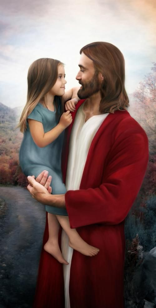 "Christ and Child ""Greatest in the Kingdom"""
