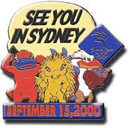 See you in Sydney September 15, 2000 pin