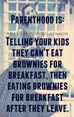 I occasionally let Mr. 10 have brownies or cake for breakfast if we have some left over, lol.