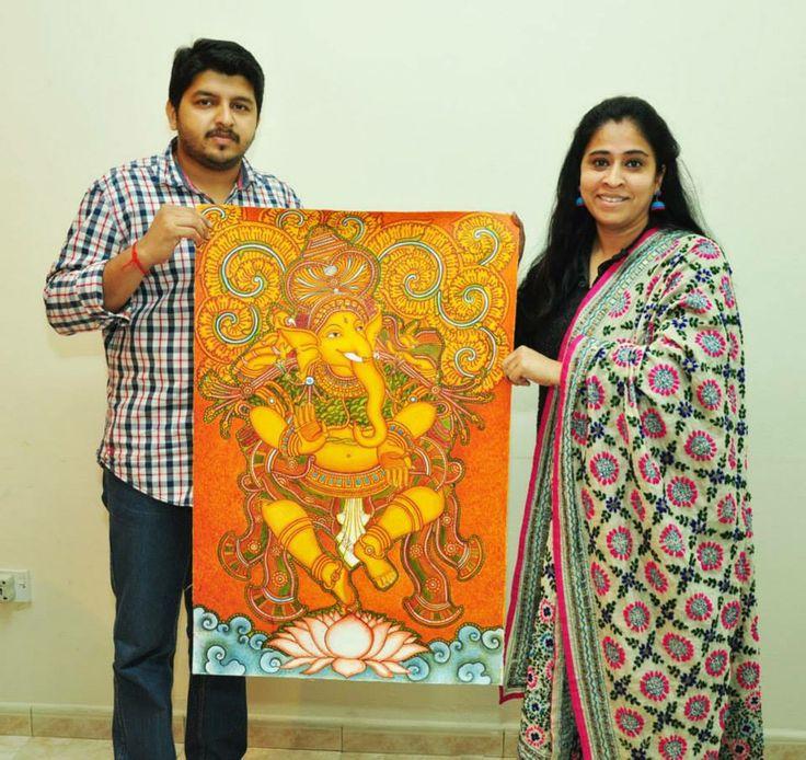 1000 images about kerala mural art on pinterest hindus for Asha ramachandran mural painting