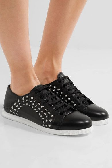 Alexander McQueen - Studded Leather Sneakers - Black - IT35.5