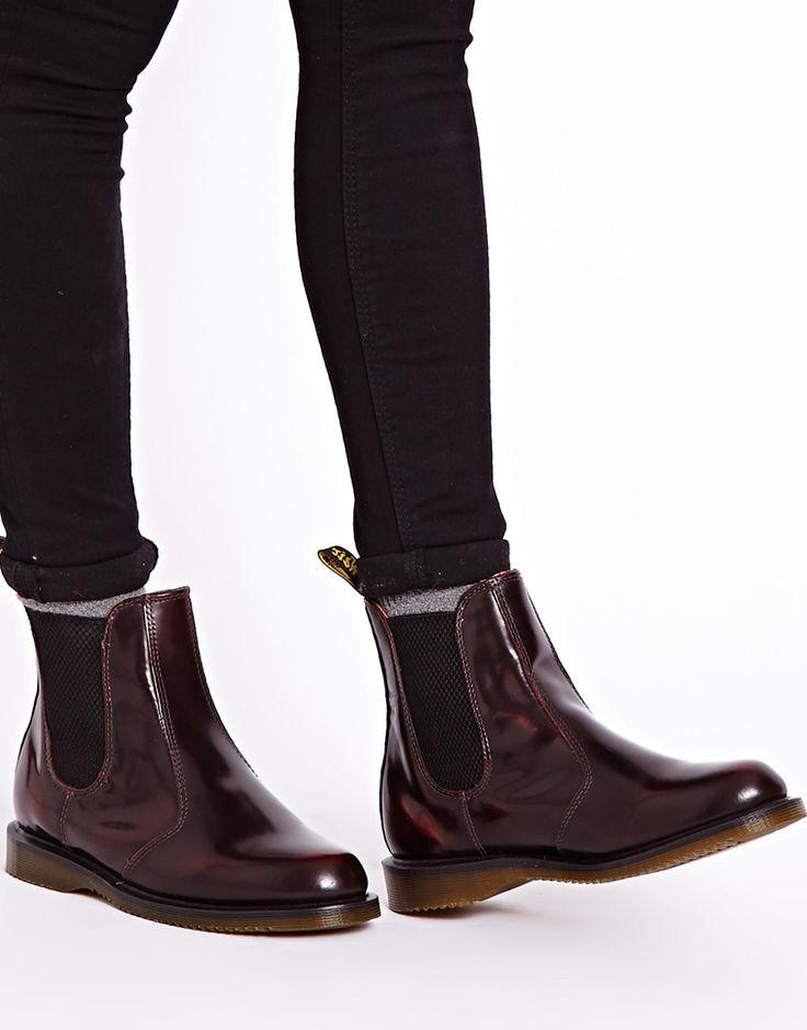Image 1 ofDr Martens Kensington Flora Burgundy Chelsea Boots