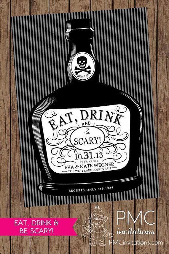 The 25+ best Adult halloween invitations ideas on Pinterest ...