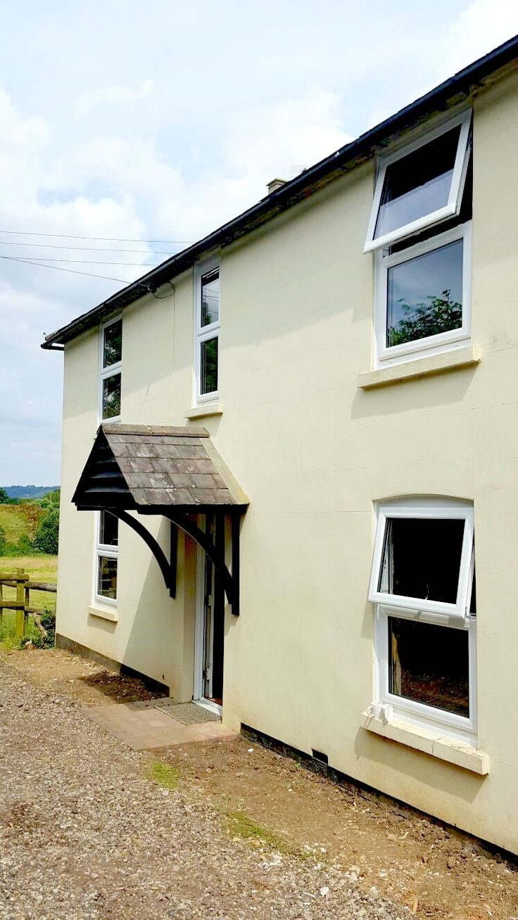 New installation of white uPVC mock sash windows in the Kent countryside #HomeImprovements