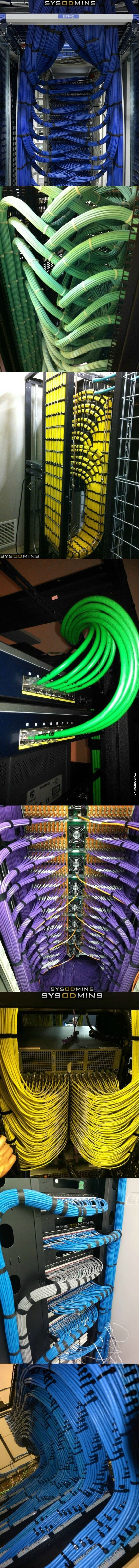 This company did a great job with all of these installs. Great cable management and network runs.: