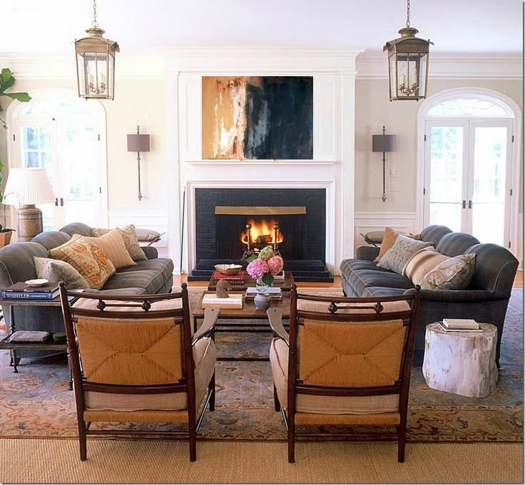 Living Room Furniture Placement With Fireplace