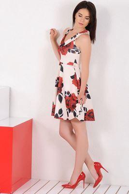 Mezuniyet ve Balo Elbise Modelleri, En Trend Düğün Nişan Abiye ve Elbiseleri En İyi Fiyatlarla! Detayları Göster Gül Desenli Kalp Yaka Beyaz Elbise