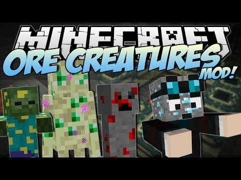 Minecraft | ORE CREATURES MOD! (Shiny New Agressive Mobs!) | Mod Showcase
