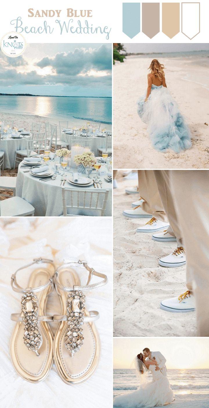 Sandy Blue Beach Wedding Inspiration - KnotsVilla