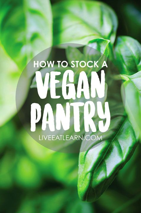 How to stock a healthy vegan pantry, from the dry good staples to the sauces and secret ingredients you'll need in your fridge. This guide also includes common ingredient substitutions, my favorite online resources, and of course, recipes! // Live Eat Learn