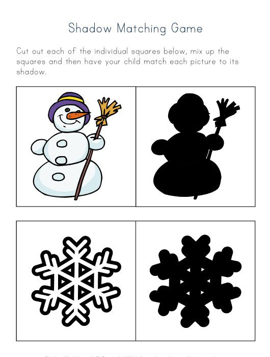 Shadow Matching Game for Kids...just wish they had a groundhog, too!
