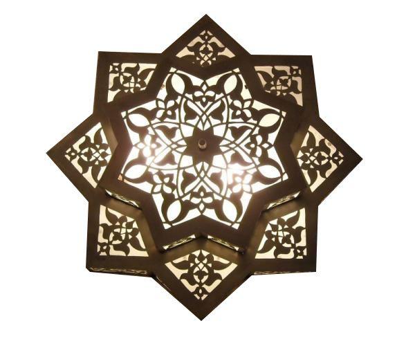 E Kenoz - Flush Mount Moroccan Style Hanging Ceiling Lights, $245.00 (http://www.ekenoz.com/moroccan-lighting/moroccan-chandeliers/flush-mount-moroccan-style-hanging-ceiling-lights/)