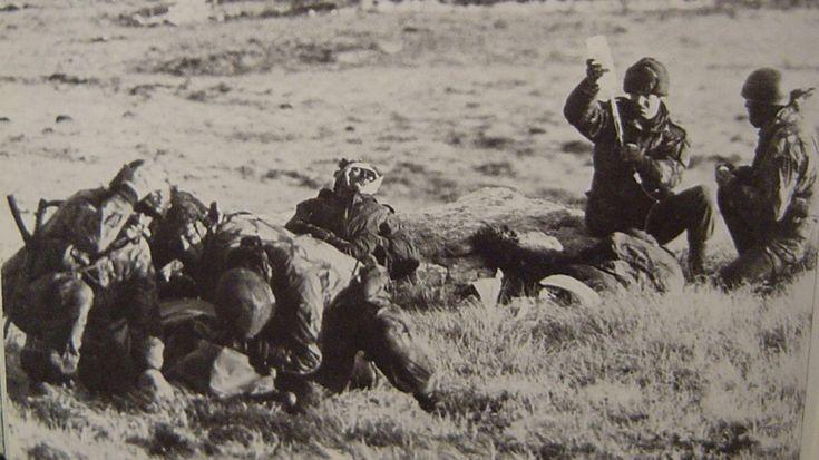 Monte Longdon, escenario de una de las batallas entre las fuerzas británicas y las argentinas, que se llevó a cabo entre el 11 y el 12 de junio de 1982 (AFP)