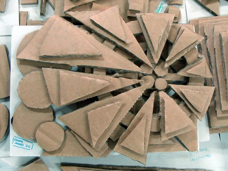 cardboard sculpture...would be cool to spray paint when done