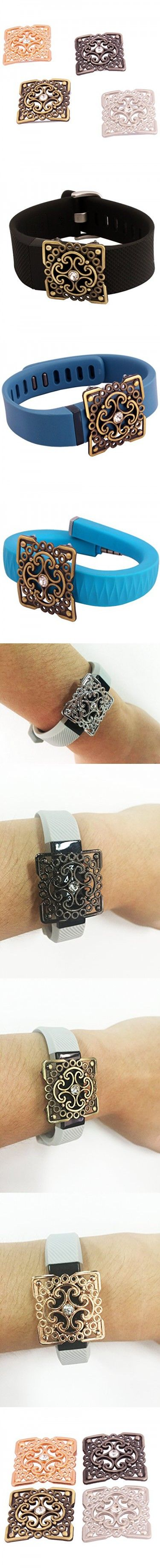 """Yavive® Fitness Band Bling """"Faith"""" - Fitness Band Accessory Square Ornament for Fitbit Charge/charge Hr/Fitbit Alta/jawbone up24/Fitbit Flex (ALL 4 colors)"""