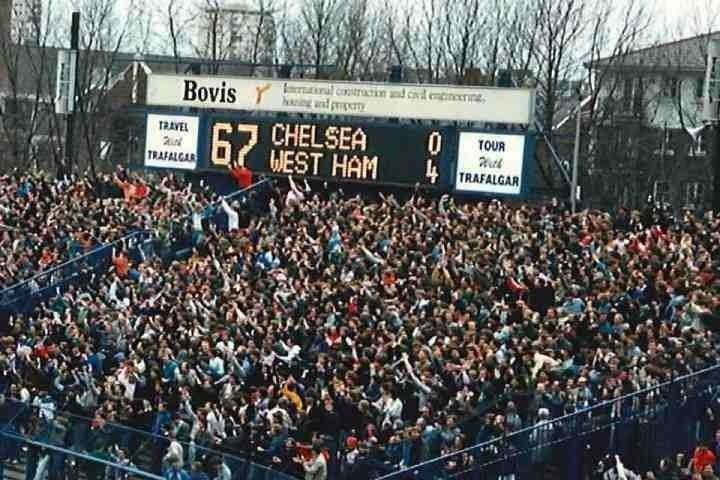 29th March 1986, Stamford Bridge. Trust me, I'm stuck in the middle of that traveling away mass and loved every minute.