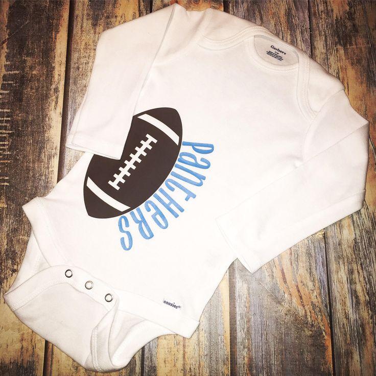 Carolina Panthers Football long-sleeve Baby Bodysuit by LittleLoveliesHayley on Etsy