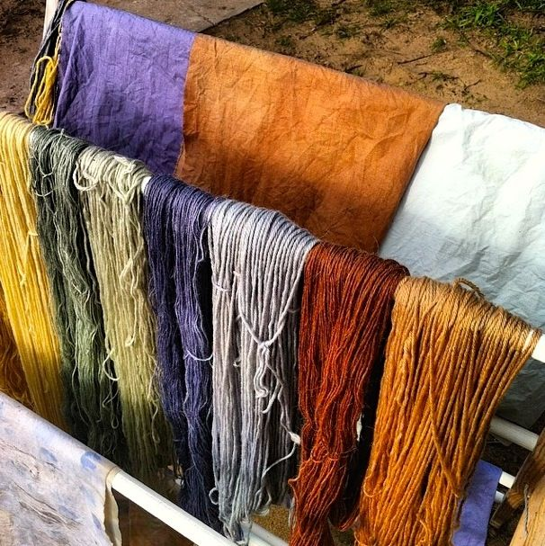 Yarn and fabric plant dyeing: Milkwood Permaculture