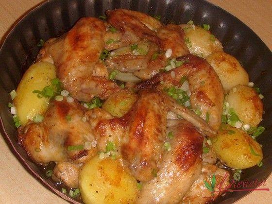 vistu spārniņi ar kartupeļiem