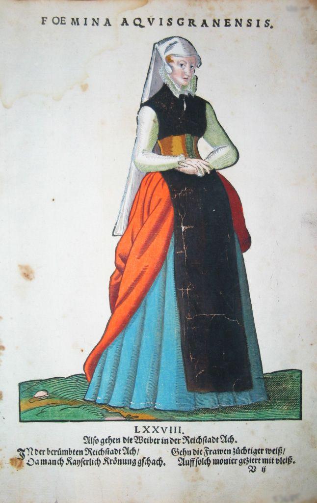 Jost Amman für Hans Weigel - Foemina Aquisgranensis. Also gehen die Weiber in der Reichstadt Ach  1577 http://www.pahor.de/data/product-list/53685.jpg