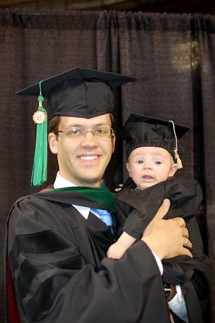 Too cute! Grad cap and gown for baby!