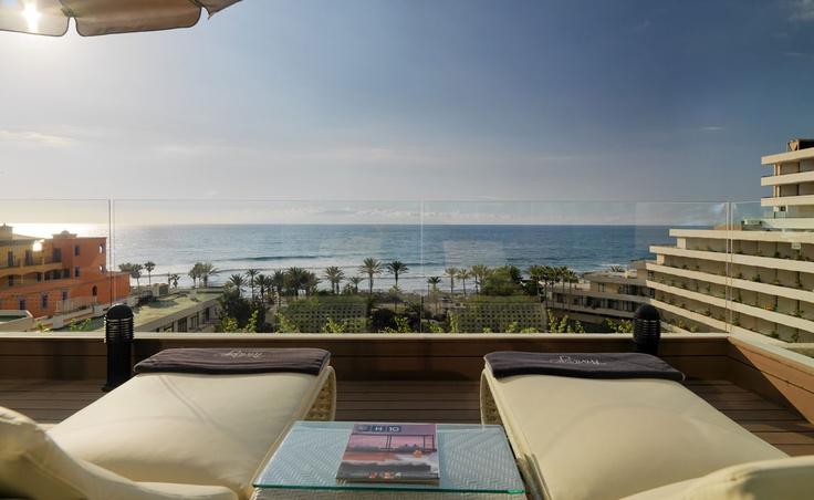 Privilege terrace with sea views #hotel #Privilege