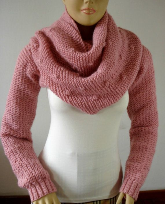 KNITTING PATTERN SCARF with Sleeves  Bubble by LiliaCraftParty