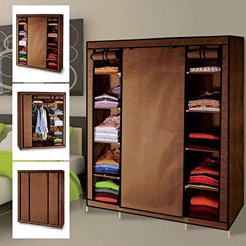 ProBache – Armoire de rangement chocolat dressing penderie XXL tissu: Véritable dressing, cette armoire de rangement en toile nouvelle…