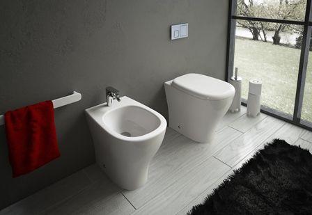Vaso o Bidet - Serie Ten A terra   Filo muro  Offerte aggiornate ogni mese! http://www.magazzinodellapiastrella.it/offerte-bagno-firenze.php #sanitari #bagno #vasobagno #bidetbagno #arredobagno #ristrutturacasa #casa #arredocasa